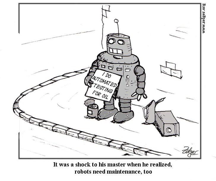robot maintenance automated testing